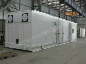 Ettes Power Soundproof Canopy 1000KW 1MW Natural Gas Generator Generation