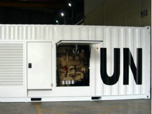 Ettes Power Soundproof Container Diesel Generator to UN