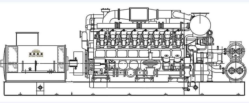 oil field gas generator  oilfield gas generator set