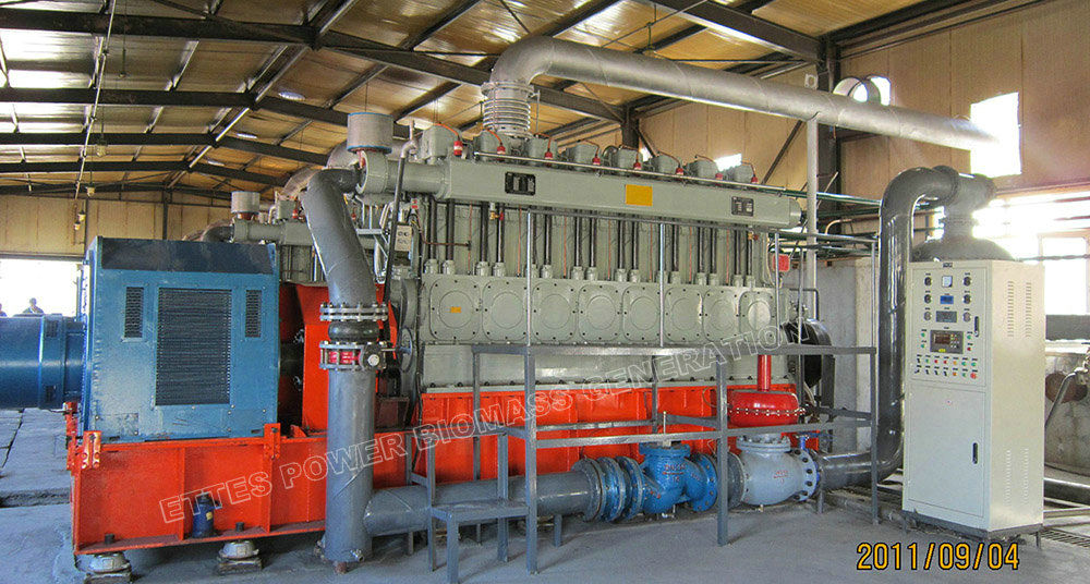 low quality syngas biomass engine generator power plant wast to energy